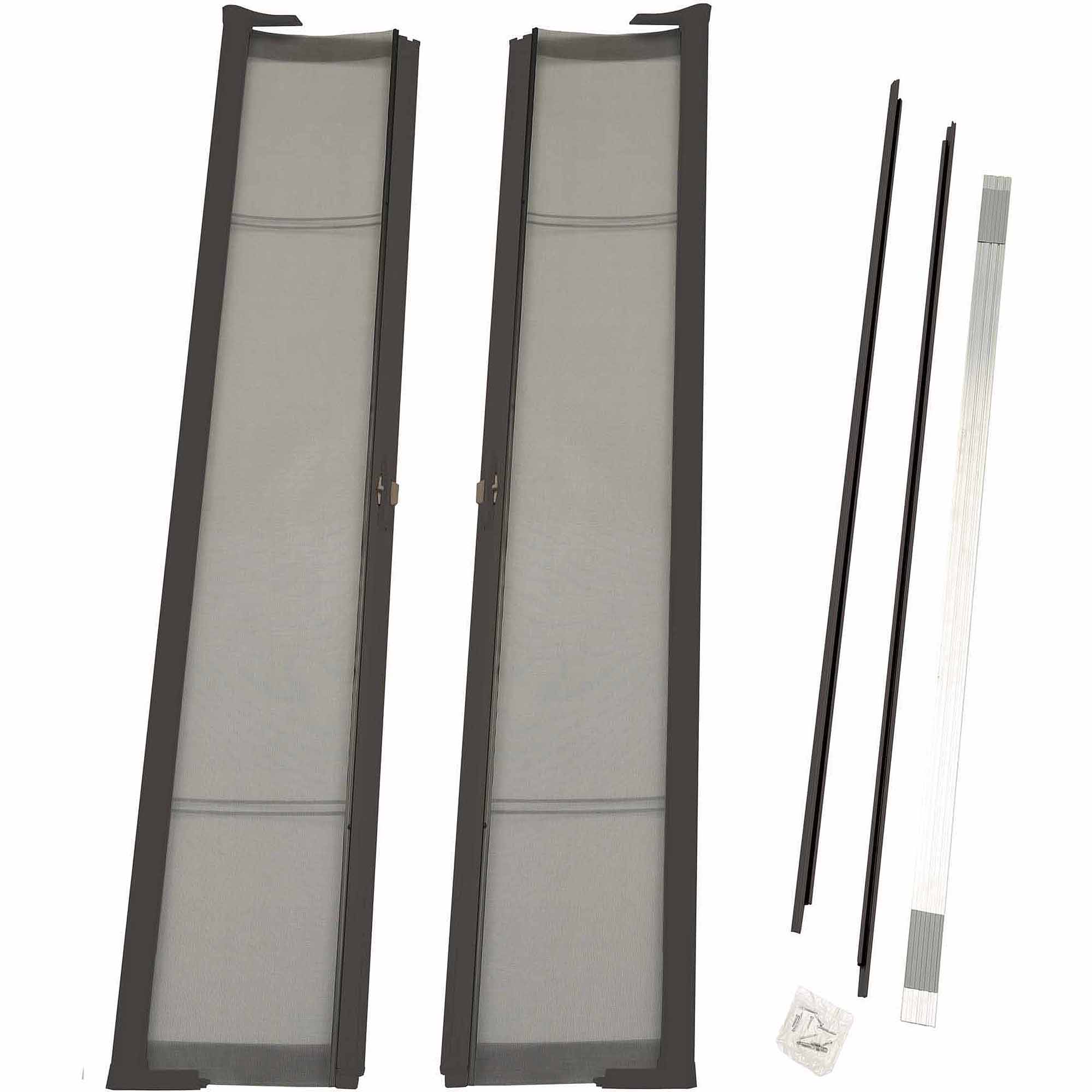 "ODL Brisa Bronze Standard Double Door Single Pack Retractable Screen for 80"" Inswing/Outswing Doors"