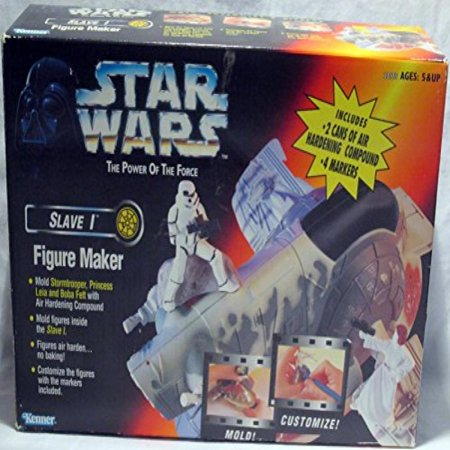 Star Wars Power of the Force Slave I Figure Maker with Stormtrooper, Princess Leia & Boba Fett molds - Leia Slave Bikini