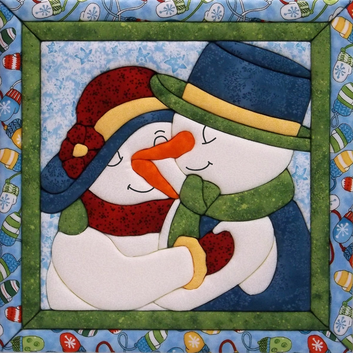 "Snow Couple Quilt Magic Kit, 12"" x 12"""