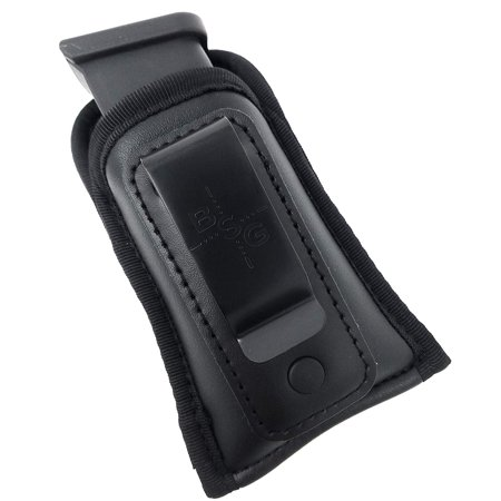 Black Scorpion Outdoor Gear Concealment Tactical Magazine IWB Pouch - Multi Use Soft Pouch for Pistol Inside The Waistband Single Double Stack 9mm .40 and .45 Cal (Mag Pouch Double