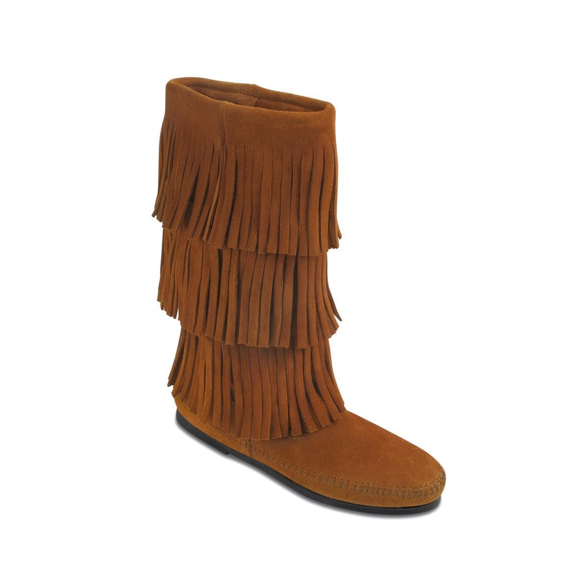 Minnetonka 3-Layer Suede Fringe Boot 438-682 by