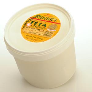Domestic Greek Feta Cheese, 8lb bucket by