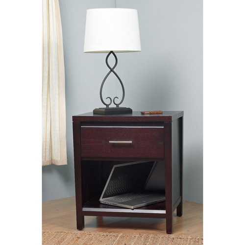 Modus Furniture International Nevis 1-Drawer Nightstand, Espresso