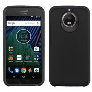 Motorola Moto G6 - Phone Case Shockproof Hybrid Rubber Rugged Case Cover Slim BLACK