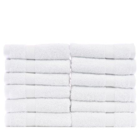 Luxury Hotel & Spa Towel Turkish Cotton Washcloths - White - Bamboo - Set of (Spa Washcloth)