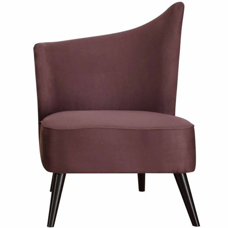 chair with flaired back purple microfiber box 2 of 2