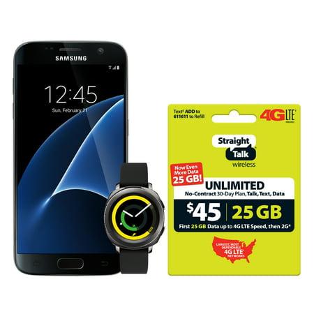 Straight Talk Galaxy S7 32GB Gear Watch Bundle with $45 Service