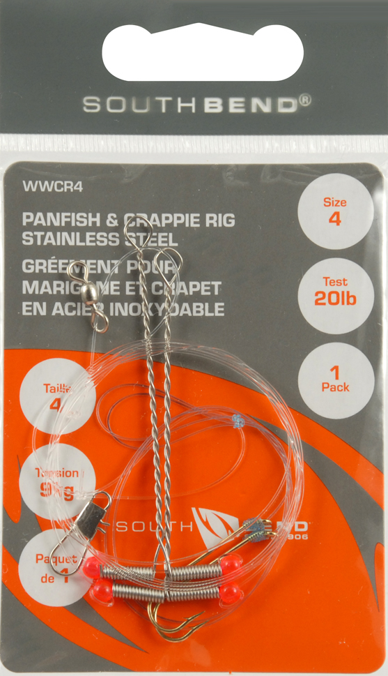 SOUTH BEND WWCR-4 Panfish /& Crappie Rig  Size 4