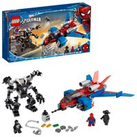 LEGO Marvel Spider-Man Spider-Jet vs Venom Mech 76150 Building Kit with Minifigures, Mech and Plane (371 Pieces)