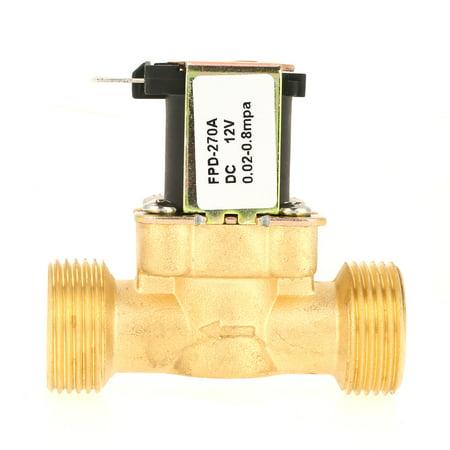 Yosooo Electric Solenoid Valve,12V G3//4 Brass N//C Normally Closed 2 Way Pressure Regulating Valve