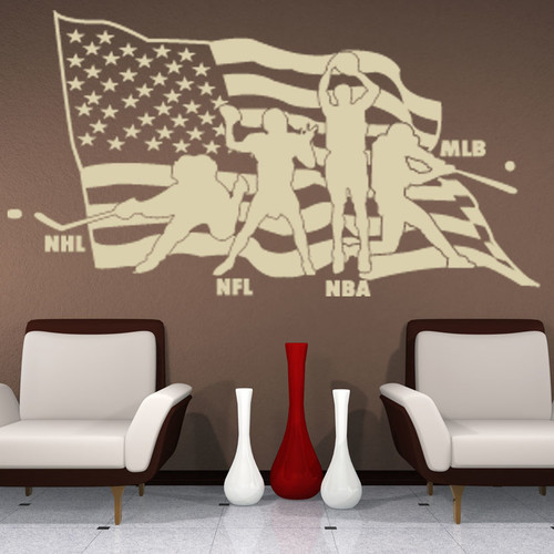 Style and Apply American Sports Wall Decal