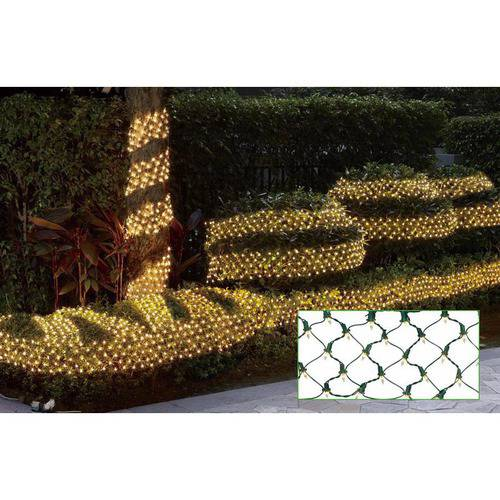 Holiday Time Ribbon Style Net Christmas Lights Clear, 150 Count