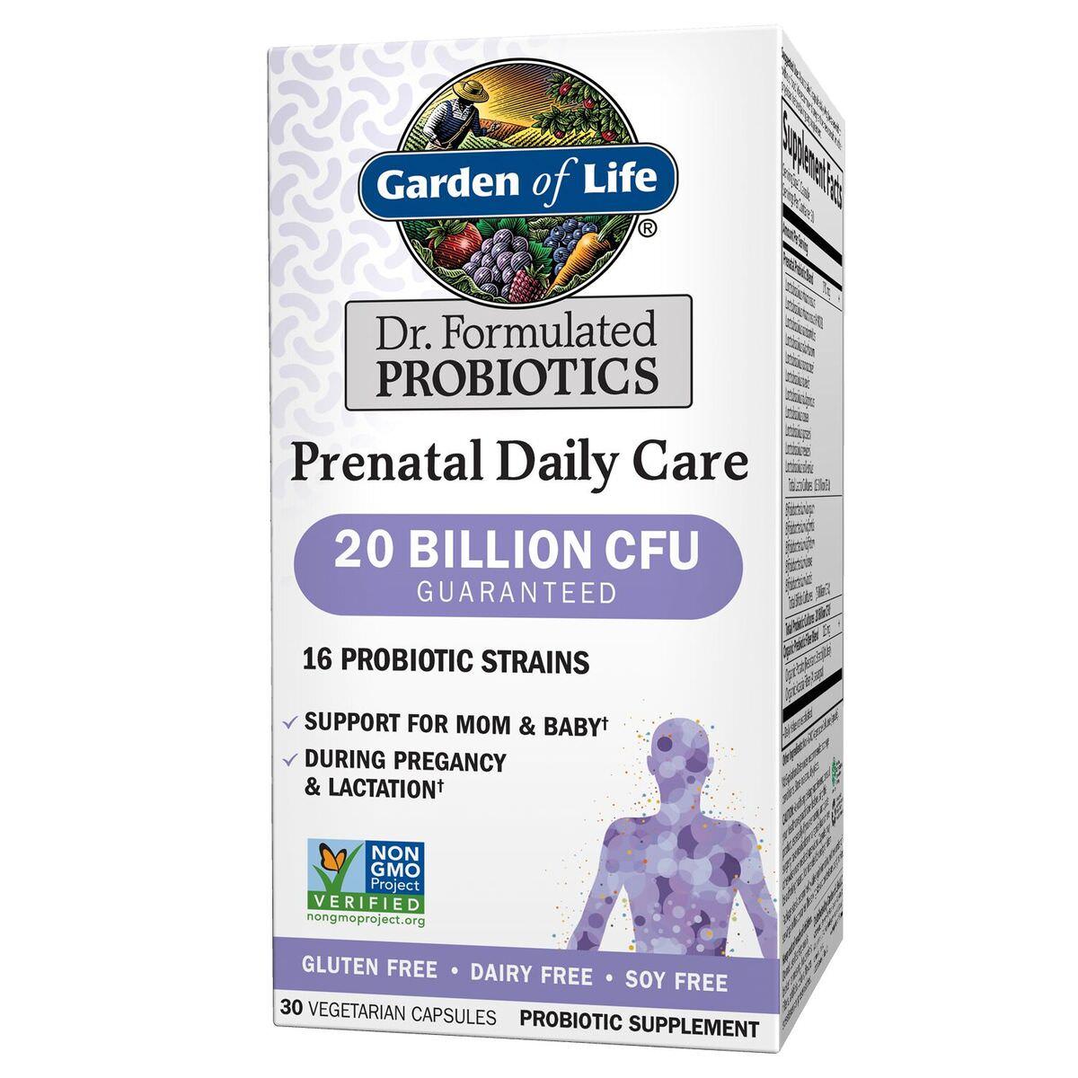 Garden of Life Dr. Formulated Prenatal Daily Probiotics, 20 Billion CFU, 30 Ct