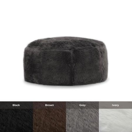 big joe beansack lux faux fur octagon bean bag ottoman. Black Bedroom Furniture Sets. Home Design Ideas