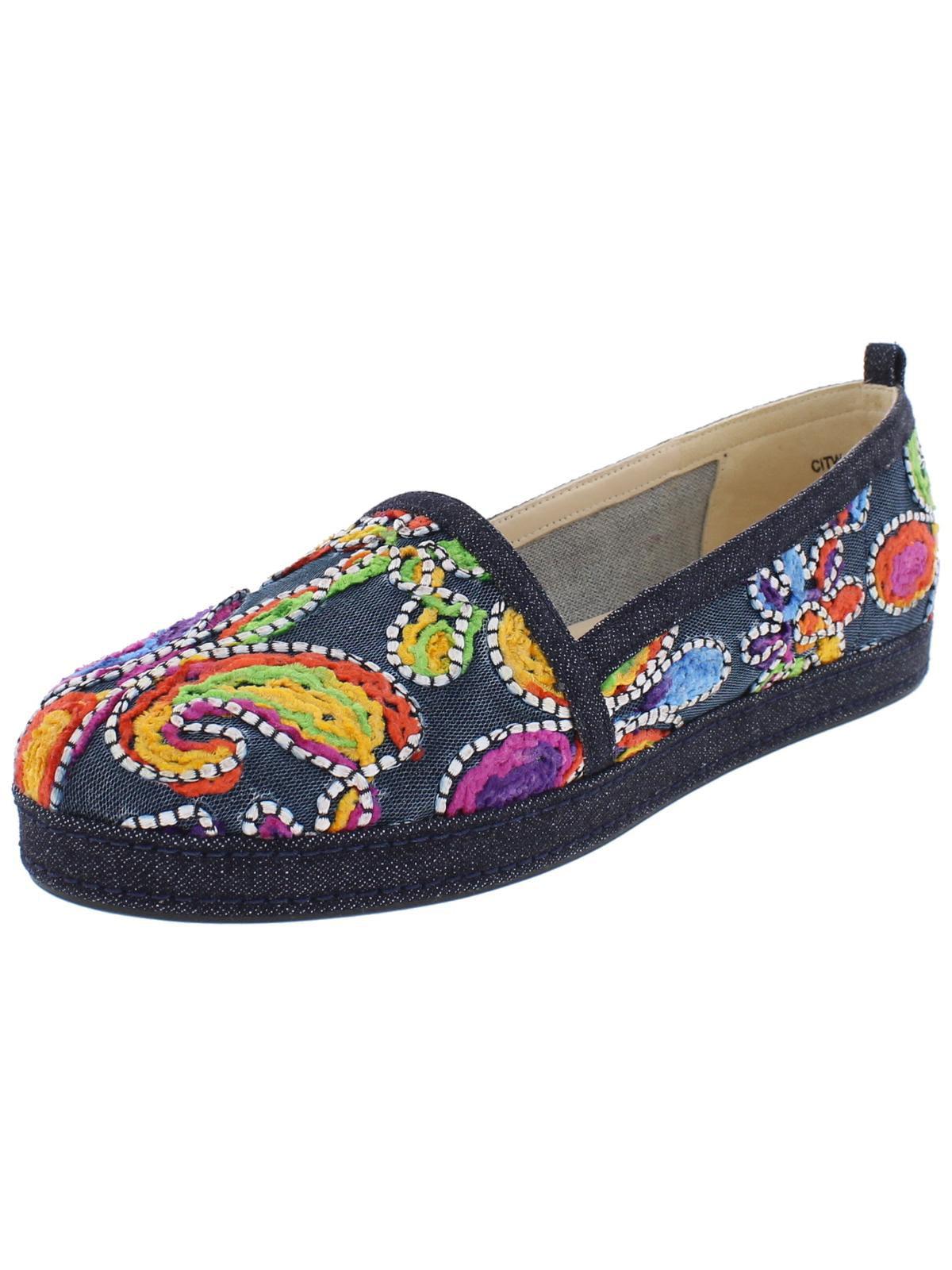 Stuart Weitzman Womens Womens Womens Sugar Embroidered Round Toe Espadrilles 2ff0c2