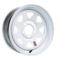 Trailer Rim Wheel 14 in. 14X6 5 Lug Hole Bolt Steel Highway Wheel White Spoke