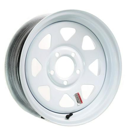 Trailer Rim Wheel 13 in. 13X4.5 5 Lug Hole Bolt Wheel White Spoke Design