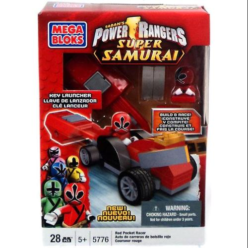 Mega Bloks Power Rangers Super Samurai Red Pocket Racer Set #5776