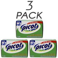 Picot Sal de Uvas. Effervescent Antacid. Heartburn, Indigestion and Upset Stomach Relief. Fast and Effective. 12 Counts. Pack of 3
