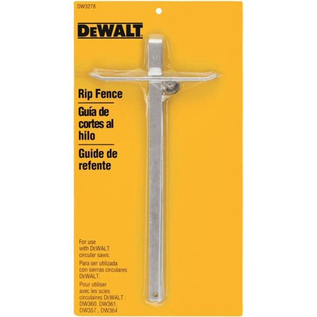 Dewalt Dw788 Scroll Saw - Dewalt - DW3278 - 12-1/2 x 5-3/8 Steel Rip Fence, For Use With Black and Decker Worm Drive Saws