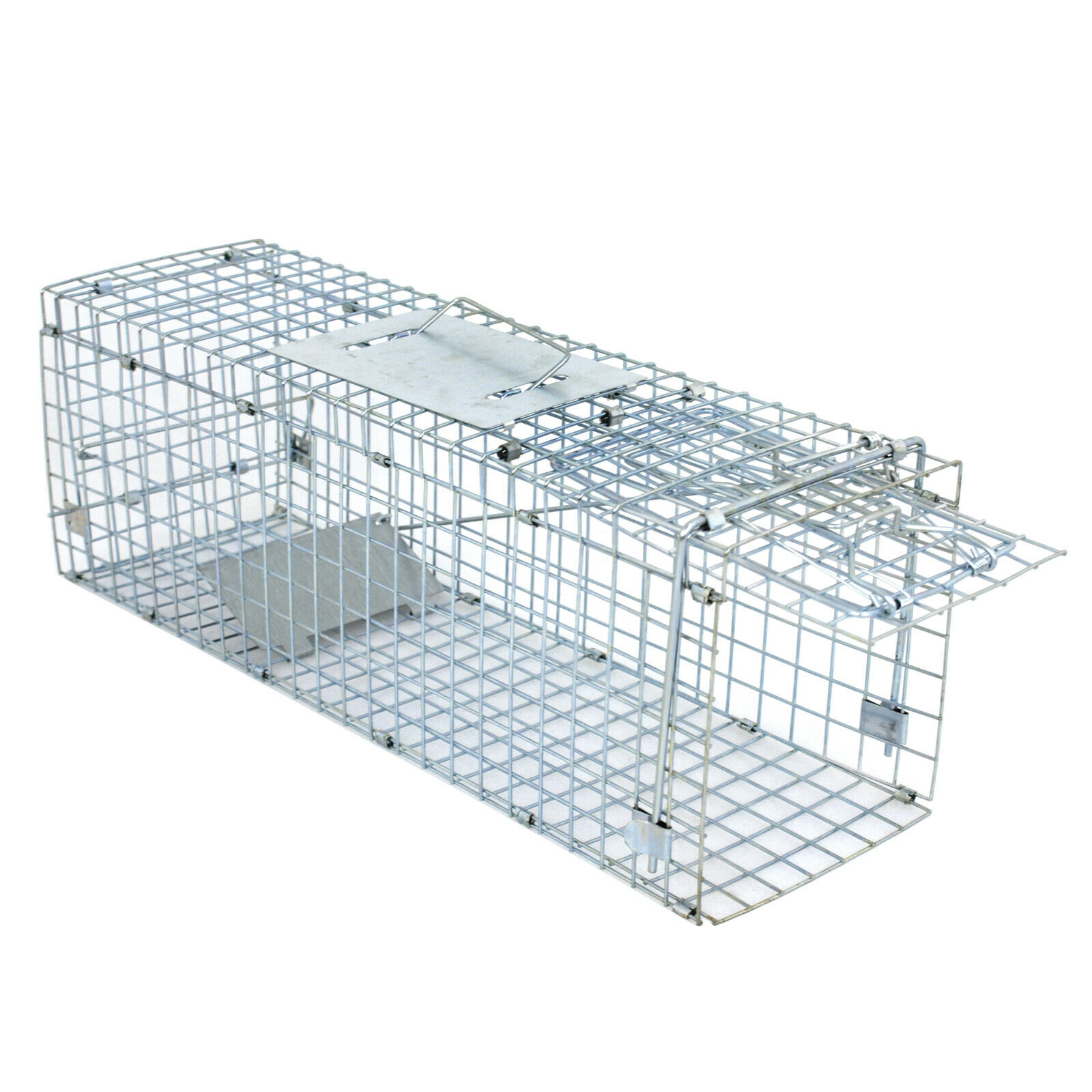 """Details about  /Live Animal Trap Extra Large Rodent Cage Garden Rabbit Raccoon Cat 24/""""X8/""""X"""