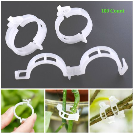 100 PCS Tomato Plant Support, JUSTDOLIFE Garden Clip Multipurpose Reusable Fixing Vine Clip for Vine Vegetables to Grow Upright and Makes Plants Healthier
