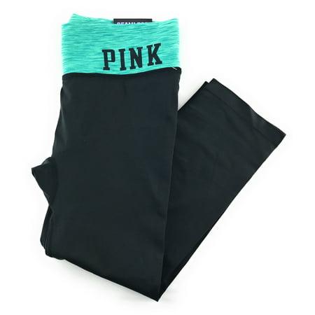 b7547e60c8036a Victoria's Secret - Victoria's Secret PINK Seamless Crop Yoga Leggings -  Walmart.com