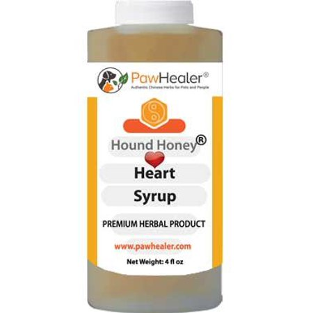 Hound Honey: Heart Syrup - Herbal Remedy for Dog's Cough - Suppressant - Herbal Medicine - Gagging & Wheezing due to Heart