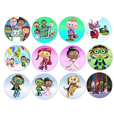 12 Super Why Edible Frosting Image Sheet Cupcake and Cookie - Halloween Cupcake Frosting Ideas