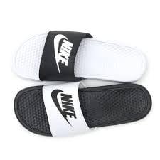 e9f5fa7af2a9c2 Nike - Nike Men s Benassi JDI Mismatch Slide Sandals Black White ...
