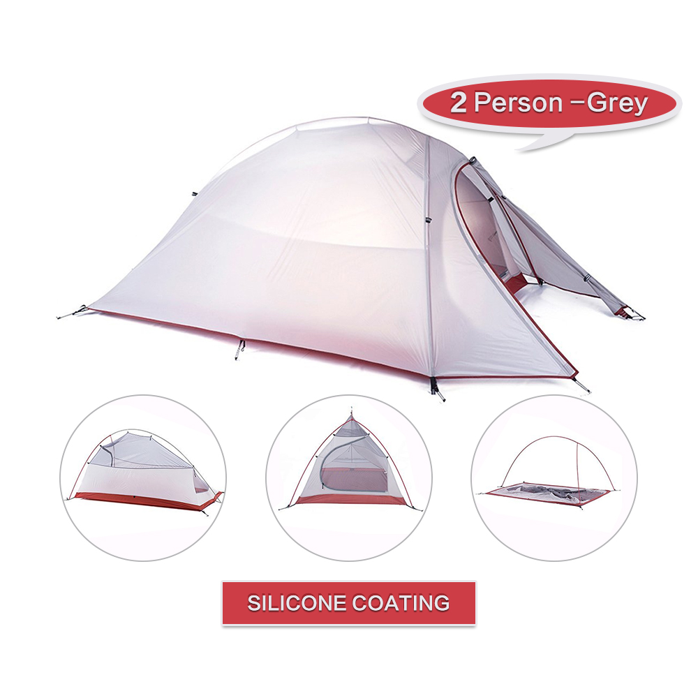 WEANAS 2-3 Person Ultralight Backpacking Tent Silicone Coating 4000mm Waterproof
