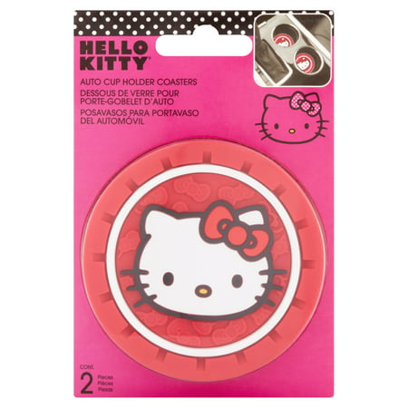 Hello Kitty Auto Cup Holder Coasters, 2 count - Hello Kitty Accessories Wholesale