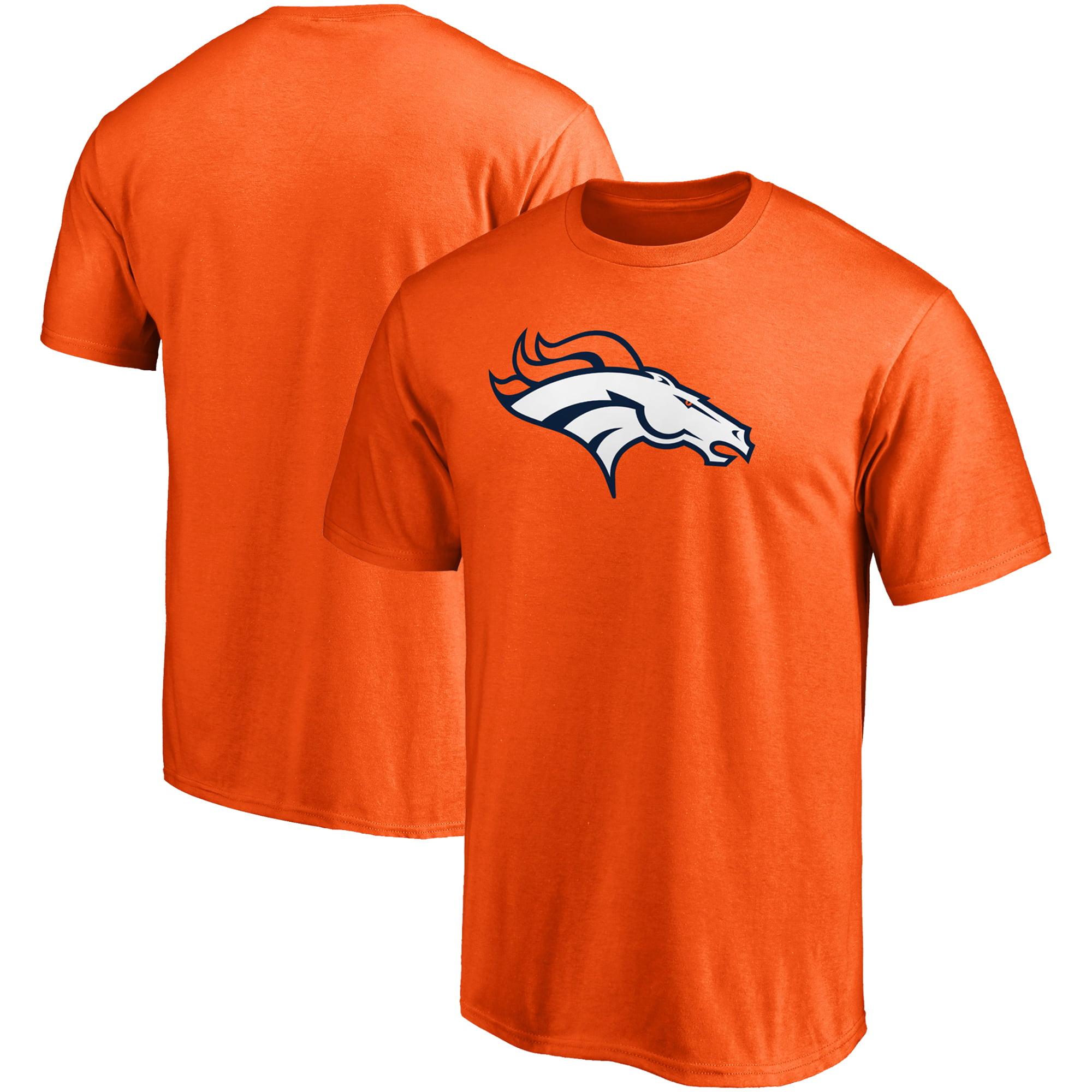 Denver Broncos NFL Pro Line Primary Logo T-Shirt - Orange