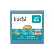 """Pen + Gear Sticky Notes, 3"""" x 3"""", Color May Vary, 1 Pad Total"""
