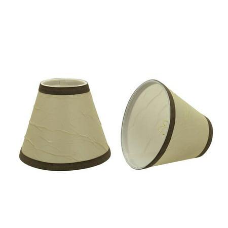 Aspen Creative 32121 2 Small Hardback Empire Shape Chandelier Clip On Lamp Shade Set 2 Pack Transitional Design In Beige 6 Bottom Width 3 X 6
