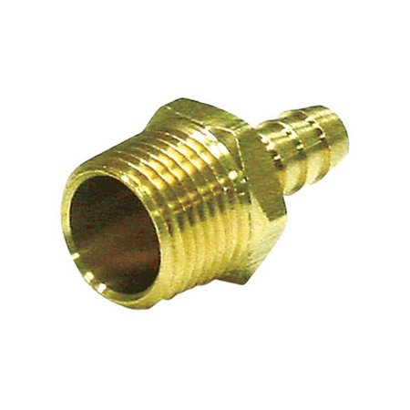 Image of 0.37 x 0.37 in. MPT Hose Barb in Lead Free Yellow Brass - pack of 5
