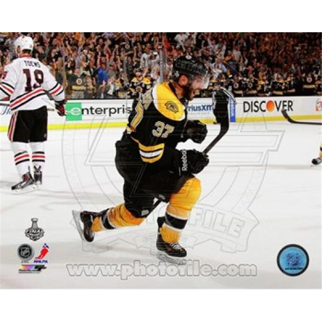 Photofile PFSAAPZ20201 Patrice Bergeron Goal Celebration Game 3 of the 2013 Stanley Cup Finals Sports Photo - 10 x 8