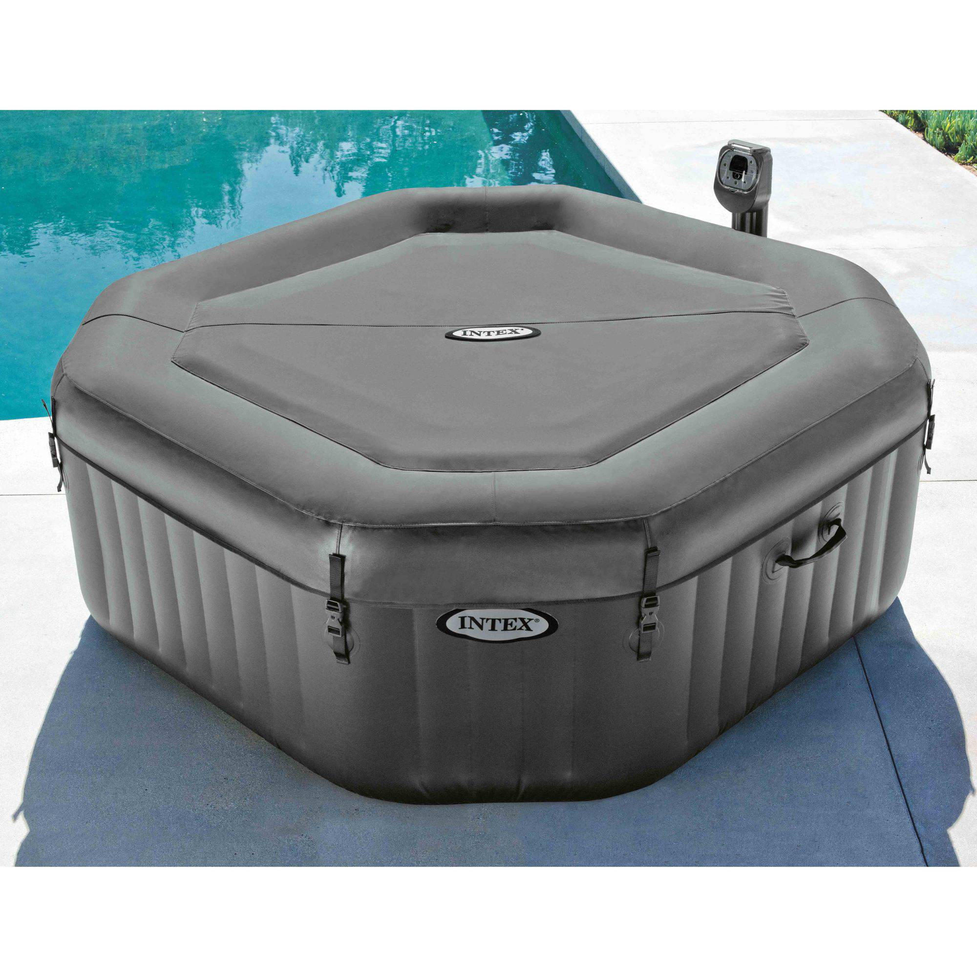 Intex 120 bubble jets 4 person octagonal purespa for Aspirateur spa intex