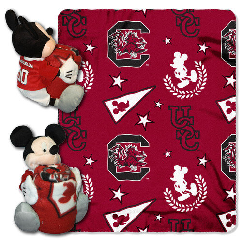 South Carolina Mickey Mouse Pillow / Throw Combo