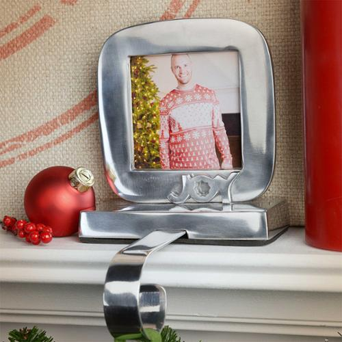 Tag Silver Joy Picture Frame Christmas Stocking Holder Walmartcom