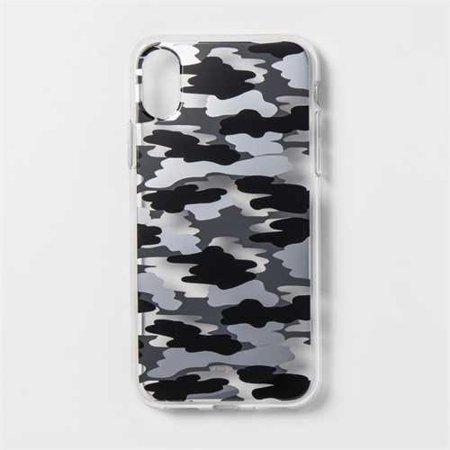 newest 32194 8eca8 heyday Apple iPhone X Printed Camo Case - Black/Gray/Silver