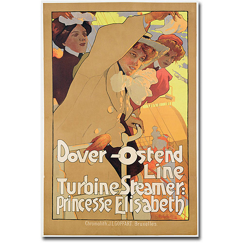 "Trademark Art ""Fover-Ostend Line, 1900"" Canvas Wall Art by Adolf Hohenstein"