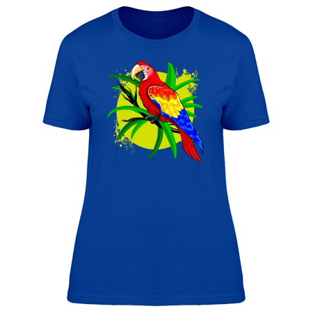 Lovely Tropical Ara Macaw Doodle Tee Women's -Image by Shutterstock - Tropical Shirts Womens