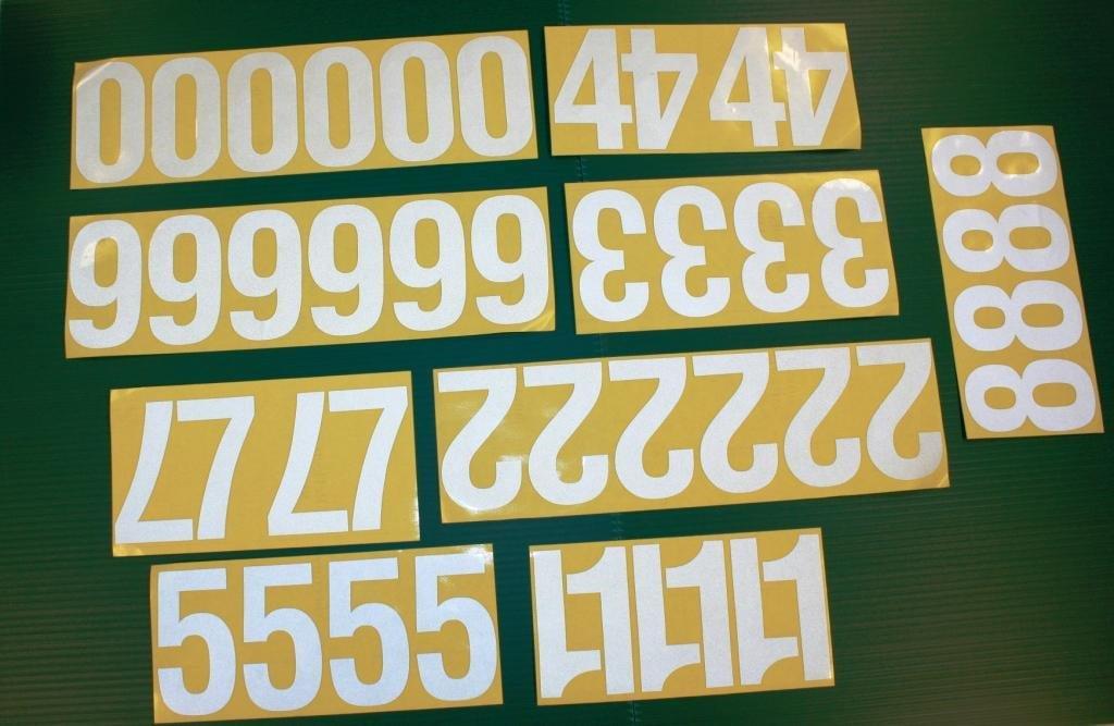"44 Reflective 4"" Address Numbers Peel & Stick by Address America, Inc."