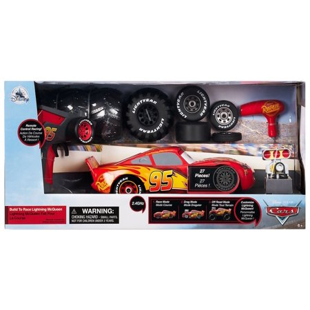 Disney Cars Build to Race Lightning McQueen R/C Remote Control Car