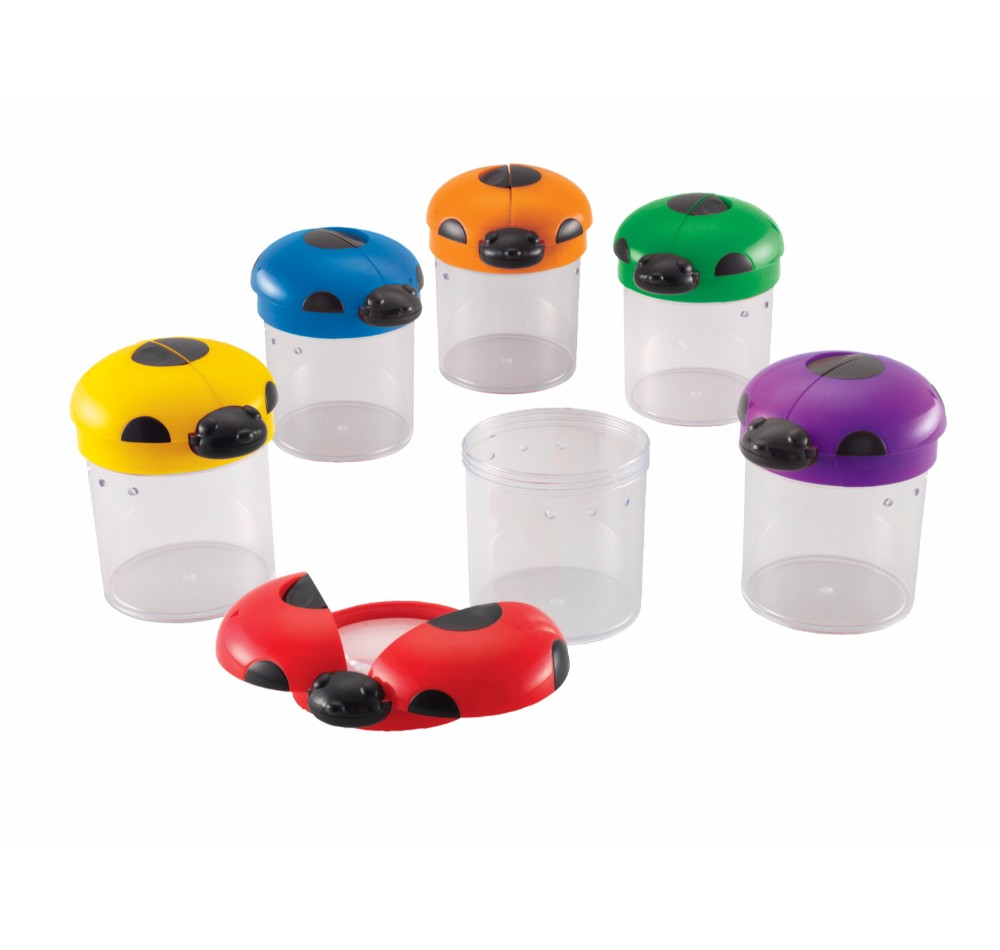Learning Resources Bug Cylinders With Magnifying Lens, Set 12