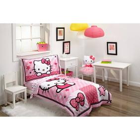 Hello Kitty Sweetheart 3 Piece Toddler Bedding Set Wit