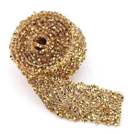 LYUMO 1yard 30mm Diamond Mesh Wrap Roll Sparkle Crystal Rhinestone Ribbon Decoration, Diamond Mesh Wrap, Rhinestone Ribbon Service Ribbon Bar