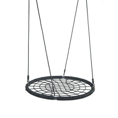 UBesGoo Saucer Tree Swing 40 Inch Round Outdoor 330 lbs Weight Capacity Black ()
