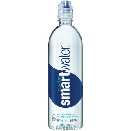 Glaceau Smartwater Vapor Distilled and Electrolytes Added Water, 27.3 Fl. Oz.